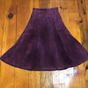 Vintage 80's/90's Purple Suede Maxi Skirt